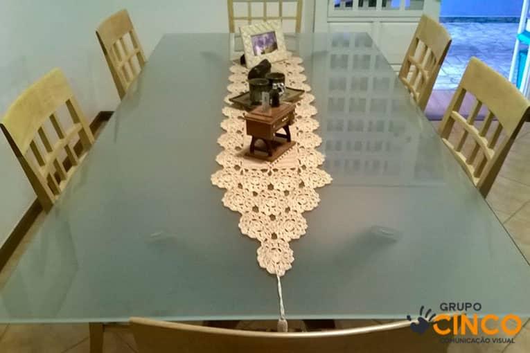 Adesivo De Parede Grande ~ Adesivo Jateado para mesa de jantar Grupo Cinco Comunicaç u00e3o Visual em Uberaba